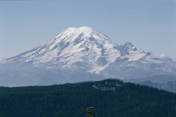 Mount Rainier Print featuring the photograph Mt. Rainier Seen From The Yakima Valley by Sisse Brimberg