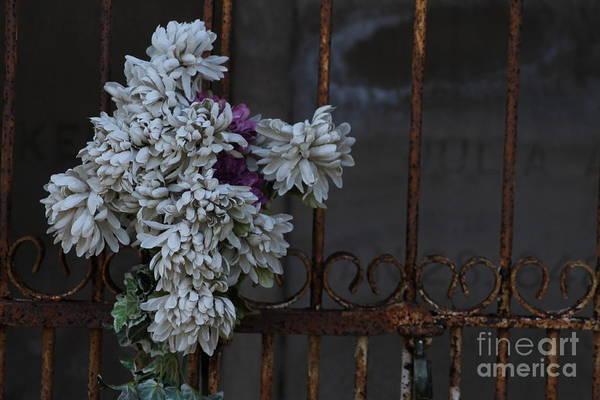 Flowers Print featuring the photograph Never Forgotten by Ralph Hecht