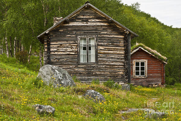 Europe Print featuring the photograph Norwegian Timber House by Heiko Koehrer-Wagner