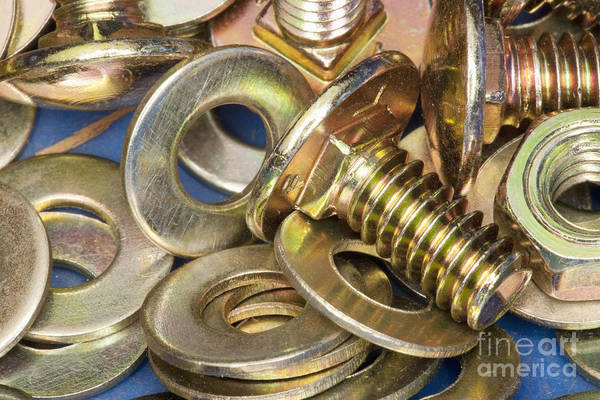 Alloy Print featuring the photograph Nuts Bolts And Washers by Shannon Fagan
