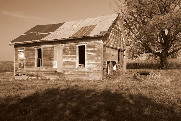 One Room School Print featuring the photograph One Room School House by Rick Rauzi