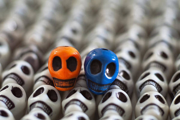 Smiles Print featuring the photograph Orange And Blue by Mike Herdering