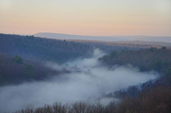 Misty Print featuring the photograph Pocono Mist by Bill Cannon