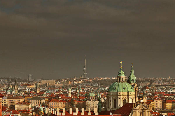Roofs Print featuring the photograph Prague - A Symphony In Stone by Christine Till