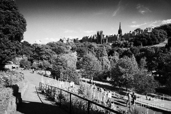 Princes Print featuring the photograph Princes Street Gardens Edinburgh Scotland Uk United Kingdom by Joe Fox
