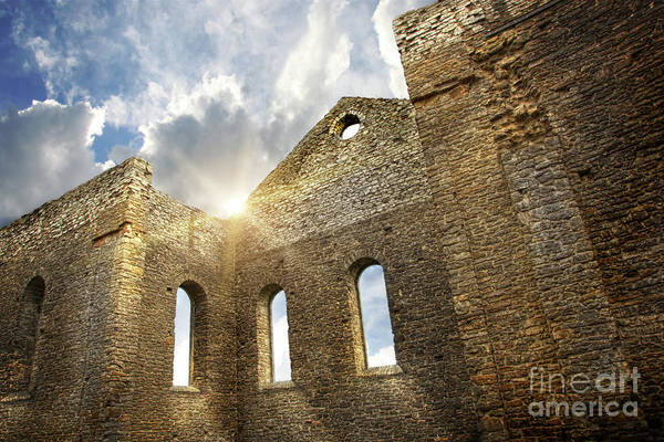 Architecture Print featuring the photograph Ruins Of A Church In South Glengarry by Sandra Cunningham