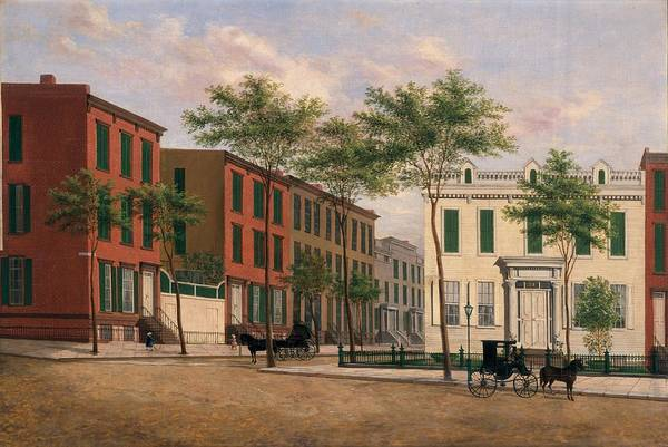 Street Print featuring the painting Street In Brooklyn by American School