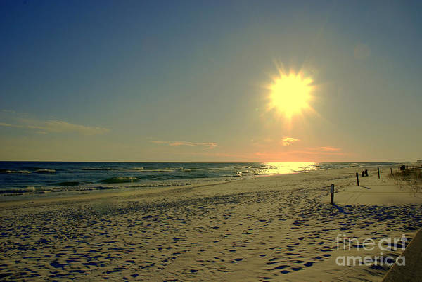 Sun Print featuring the photograph Sunburst At Henderson Beach Florida by Susanne Van Hulst