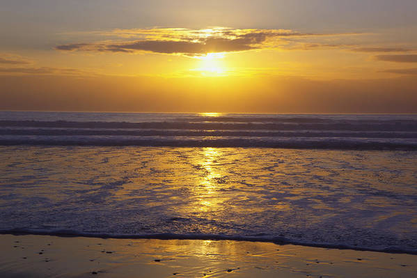 Beauty In Nature Print featuring the photograph Sunset Over The Pacific Ocean Along The by Craig Tuttle