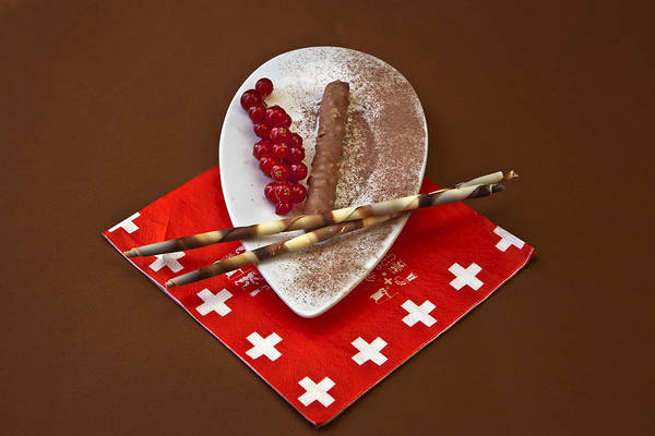 Chocolate Print featuring the photograph Swiss Chocolate Praline by Joana Kruse