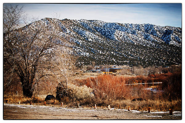 Taos Print featuring the photograph Taos Mountain View 1 by Lisa Spencer