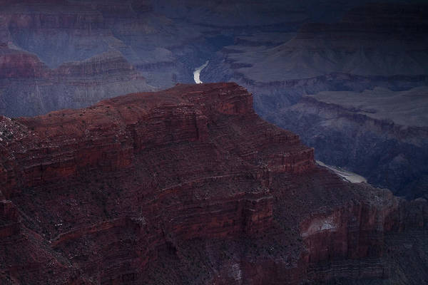 National Park Print featuring the photograph The Colorado River At Hopi Point by Andrew Soundarajan