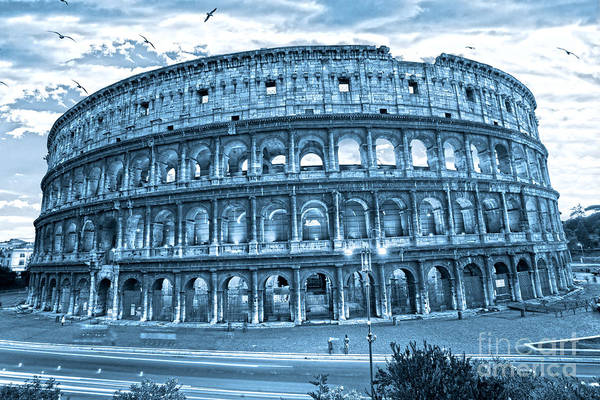 Column Print featuring the photograph The Majestic Coliseum by Luciano Mortula