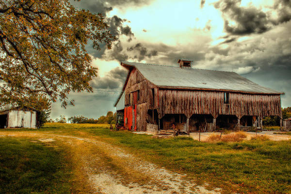 Barn Print featuring the photograph This Old Barn by Bill Tiepelman