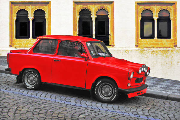 Trabant Print featuring the photograph Trabant Ostalgie by Christine Till