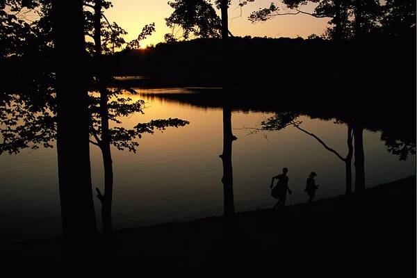 Subject Print featuring the photograph Twilight Over Walden Pond, Made Famous by Tim Laman