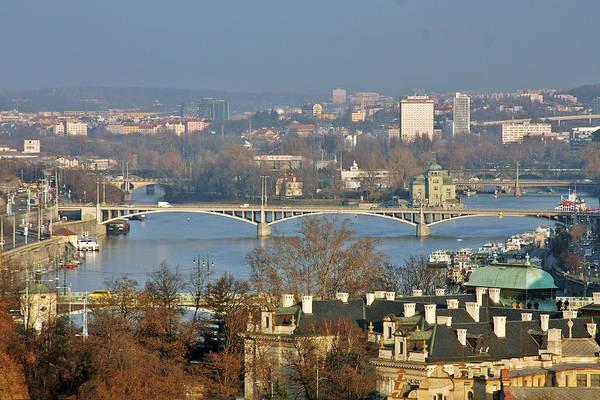 Vltava Print featuring the photograph Vltava River In Prague - Tricky Laziness by Christine Till