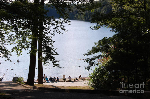 Walden Pond Print featuring the photograph Walden Pond by John Small