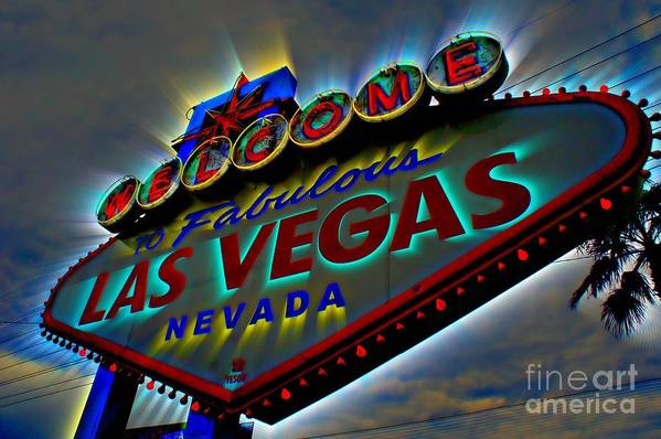 Las Vegas Print featuring the photograph Welcome To Las Vegas by Kevin Moore