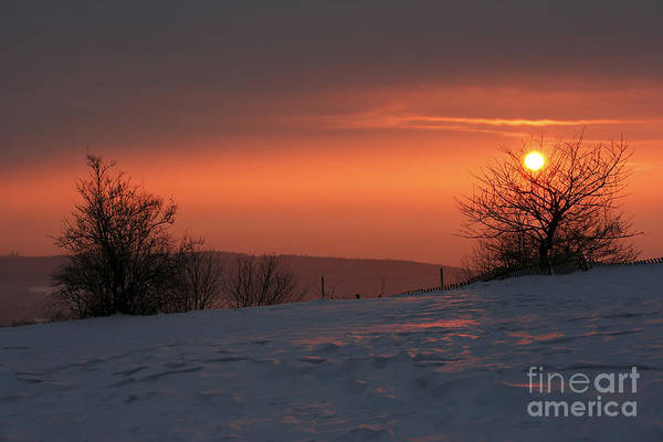 Twilight Print featuring the photograph Winter Sunset by Michal Boubin
