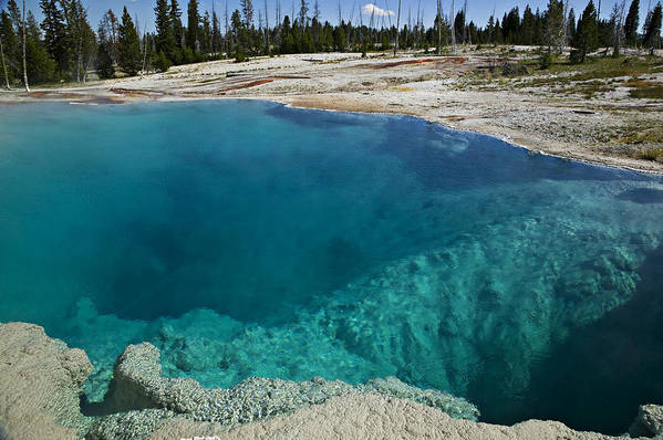 Hot Print featuring the photograph  Turquoise Hot Springs Yellowstone by Garry Gay