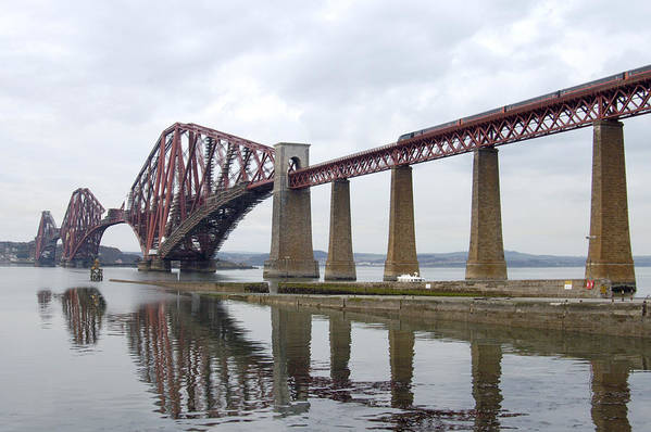 Scotland Print featuring the photograph The Forth - Scotland by Mike McGlothlen