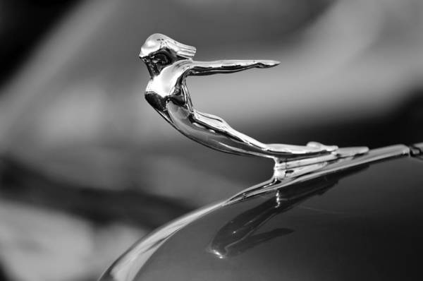 1936 Cadillac Print featuring the photograph 1936 Cadillac Hood Ornament 3 by Jill Reger