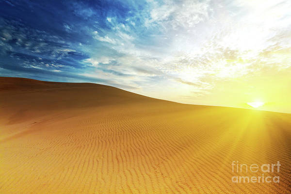 Sand Print featuring the photograph Sandy Desert by MotHaiBaPhoto Prints