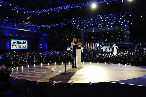 History Print featuring the photograph President And Michelle Obama by Everett