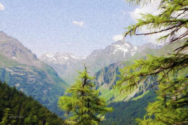 Alpine Print featuring the painting Alpine Altitude by Jeff Kolker