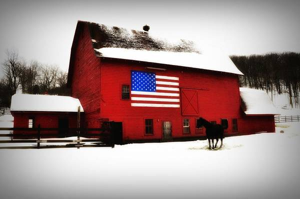 America Print featuring the photograph American Barn by Bill Cannon