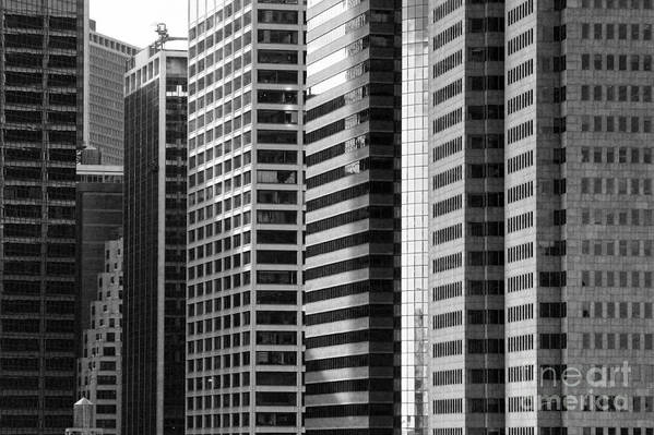 New York City Print featuring the photograph Architecture Nyc Bw by Chuck Kuhn