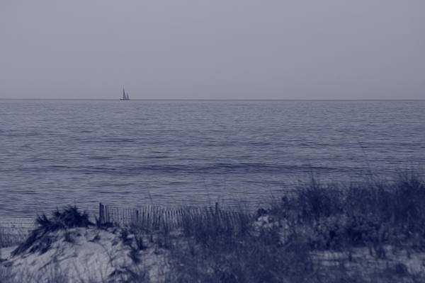 Sailboat Print featuring the photograph At Sea by Christopher Kirby