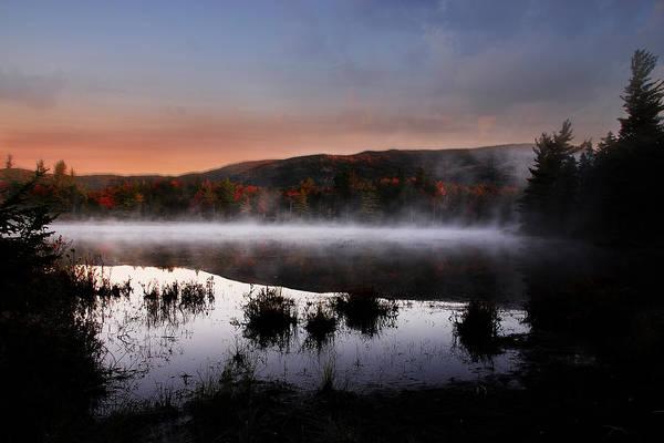 Autumn Print featuring the photograph Autumn Fog by William Carroll