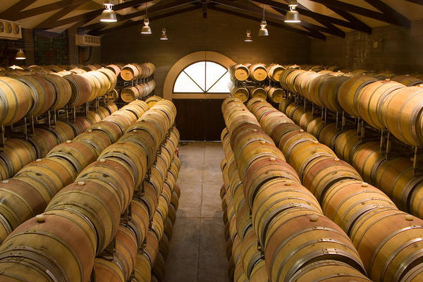 Horizontal Print featuring the photograph Barrel Room by Eggers  Photography