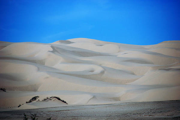 Sand Print featuring the photograph Big Sand Dunes In Ca by Susanne Van Hulst