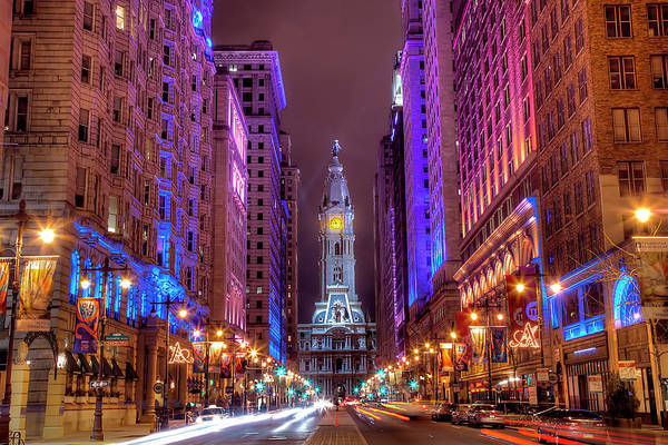 Horizontal Print featuring the photograph Center City Philadelphia by Eric Bowers Photo