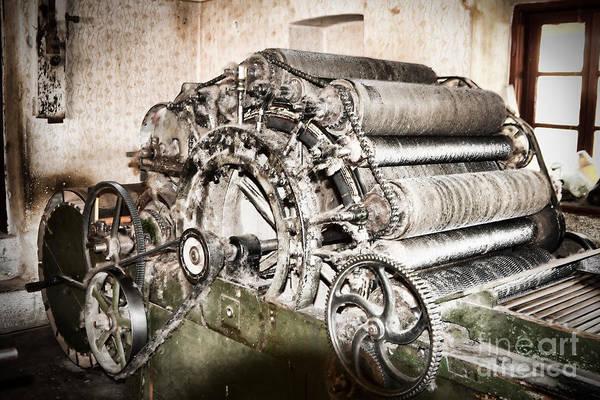 Machinery Print featuring the photograph Complicated by Gabriela Insuratelu