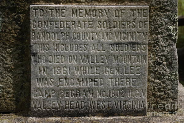Confederate Soliders Print featuring the photograph Confederate Solider Monument by Randy Bodkins