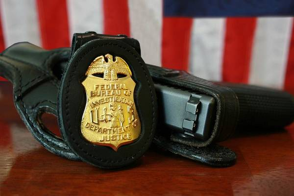 History Print featuring the photograph Contemporary Fbi Badge And Gun by Everett