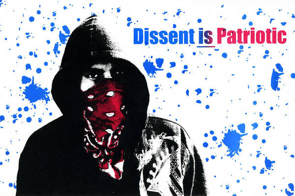 Screen Print Print featuring the photograph Dissent Is Patriotic by Jeff Ball