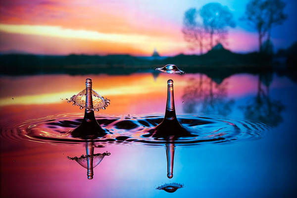 Water Print featuring the photograph Double Liquid Art by William Lee