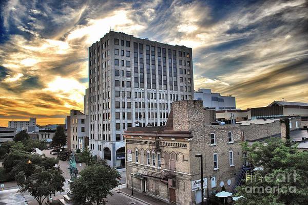 Appleton Print featuring the photograph Downtown Appleton Skyline by Mark David Zahn