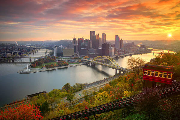 Fall Pittsburgh Skyline Print By Emmanuel Panagiotakis