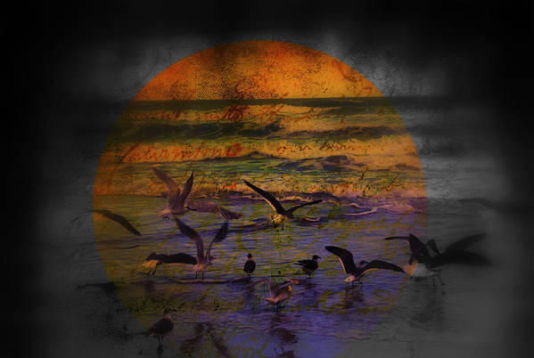Birds Print featuring the photograph Fantasy Wings by Susanne Van Hulst