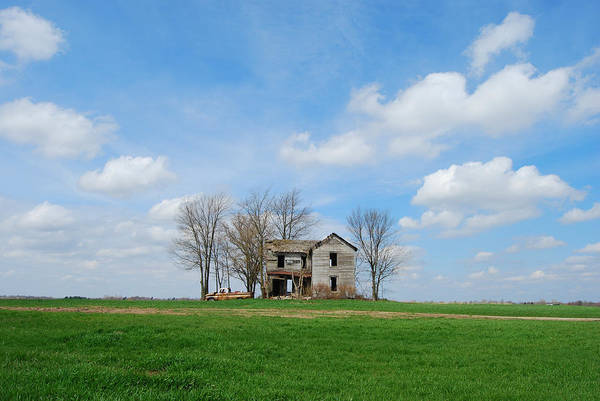 Illinois Print featuring the photograph Farmstead by Harold Clayberg