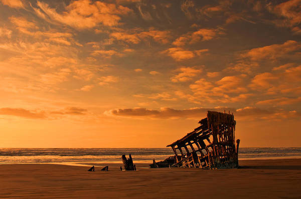 Peter Iredale Print featuring the photograph Final Resting Place by Dan Mihai