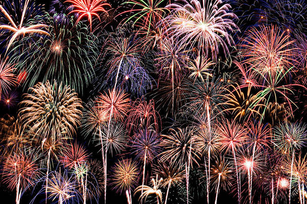 4th Print featuring the photograph Fireworks Spectacular II by Ricky Barnard