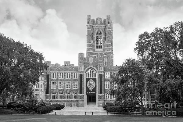 Fordham Print featuring the photograph Fordham University Keating Hall by University Icons