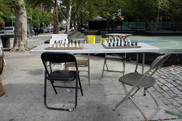 Harlem Print featuring the photograph Game Of Chess Anyone by Terry Wallace